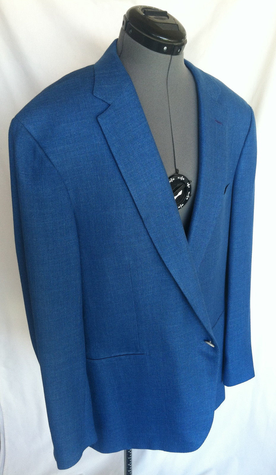Primary image for BRIONI for Neiman Marcus Blazer Coat 46 r Medium Blue Brunico FLAWLESS