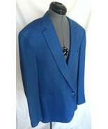 BRIONI for Neiman Marcus Blazer Coat 46 r Medium Blue Brunico FLAWLESS - $602.46