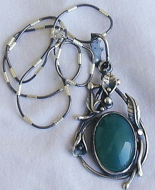 Unique green pendant
