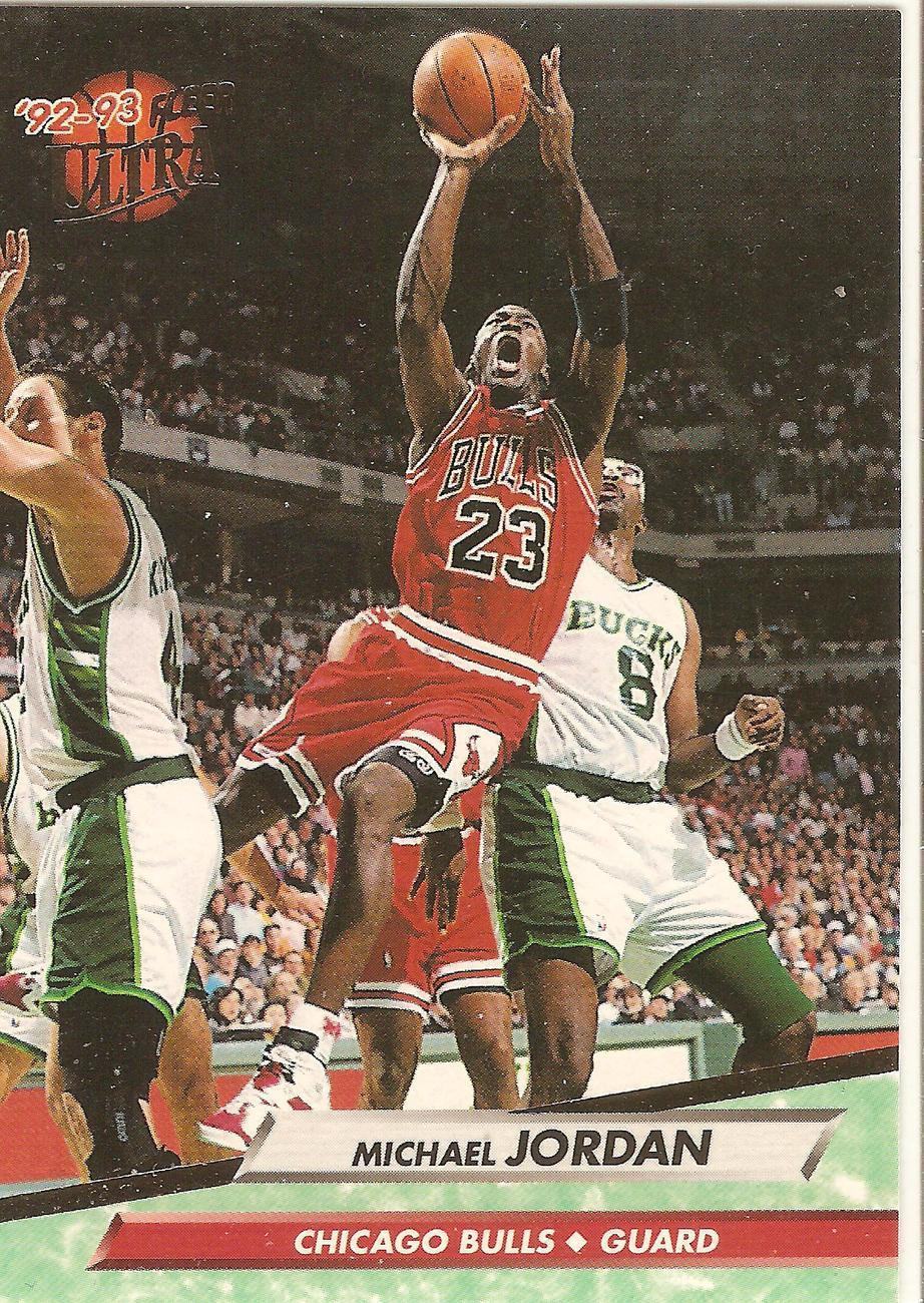 Michael Jordan Fleer Ultra 92-93 #27 Chicago Bulls Washington Wizards MVP HOF