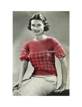 1930s Daisy Top Made using Daisy Knitter - Knit pattern (PDF 3549) - $3.75