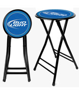 Bud Light Beer 24 Inch Portable Cushioned Foldi... - $40.99