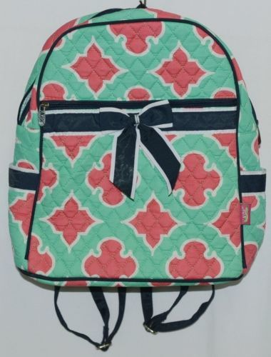 NGIL OTP2828NY Quilted Geometric Pattern Microfiber Backpack