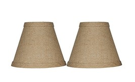 "Urbanest Chandelier Lamp Shade 3x6x5"", Hardback, Clip On, BurlapSet of 2 - $15.76"