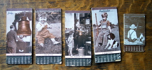 Lot of 5 Pocket Calendars 1940s w/ Vintage Photo Covers