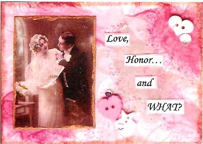 Primary image for ACEO ATC Art Collage Print Women Men Bride Bridal Wedding Love Honor What Humor