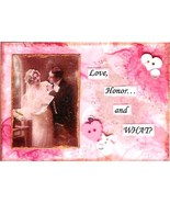 ACEO ATC Art Collage Print Women Men Bride Bridal Wedding Love Honor Wha... - $2.75