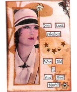 ACEO ATC Art Card Collage Print Women Ladies Look Fabulous Who Did It Ho... - $2.75
