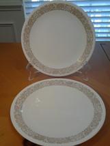 "Corelle Woodlands (2) Plate Salad Plates 8.5"" Diameter,  VG Condition - $8.05"
