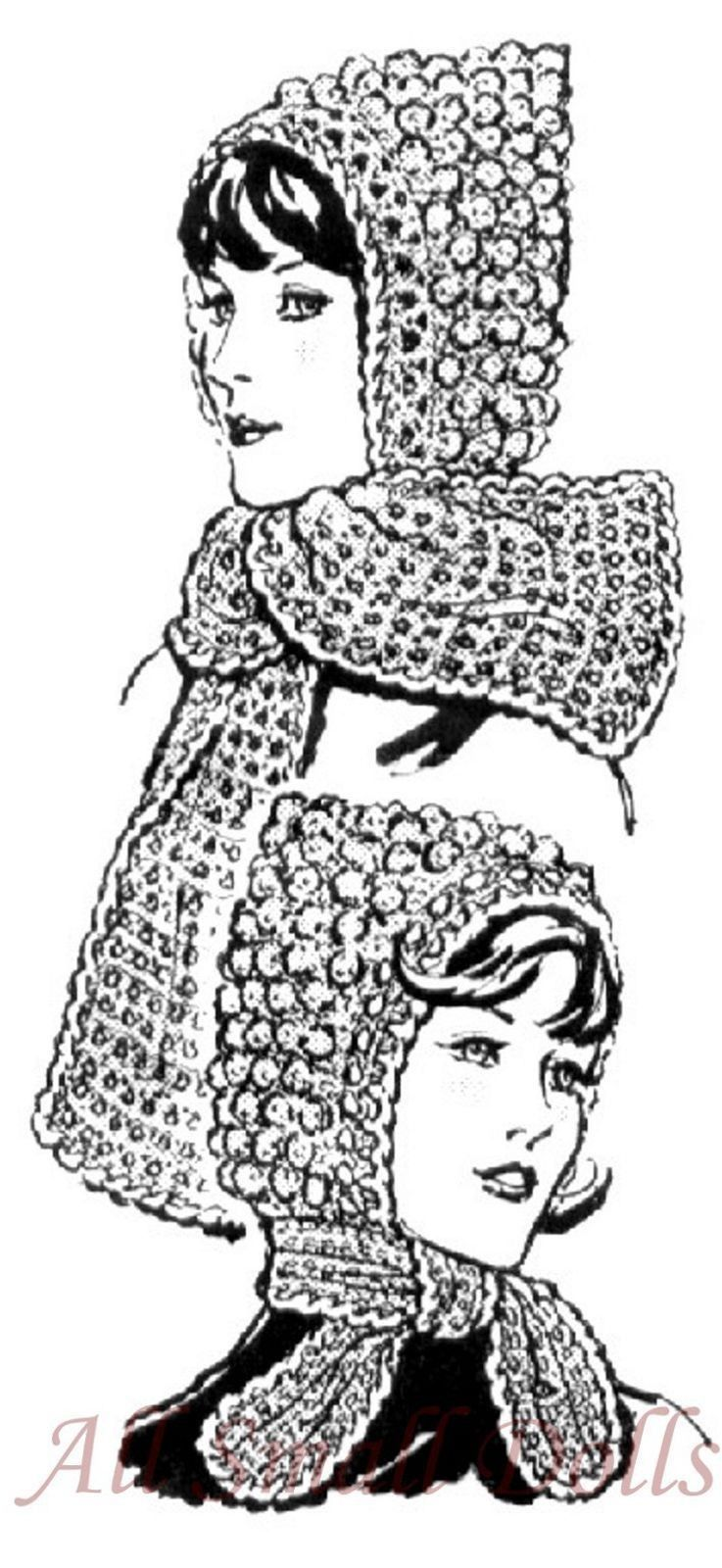 Primary image for Pattern for Crocheted Hoods with Tie or Scarf