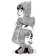 Pattern for Crocheted Hoods with Tie or Scarf - $5.99
