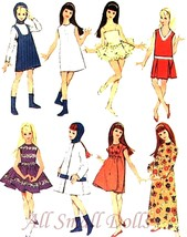 "Vintage Doll Clothing Pattern for 9 1/2"" Skipper No.8 - $9.99"