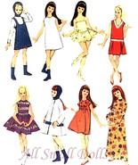"Vintage Doll Clothing Pattern for 9 1/2"" Skipper No.8 - $9.99"