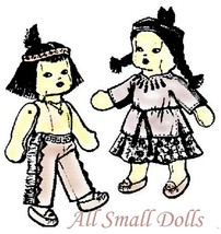 Vintage Pattern for American Indian Dolls ~ Boy & Girl Dolls with Outfits - $9.99