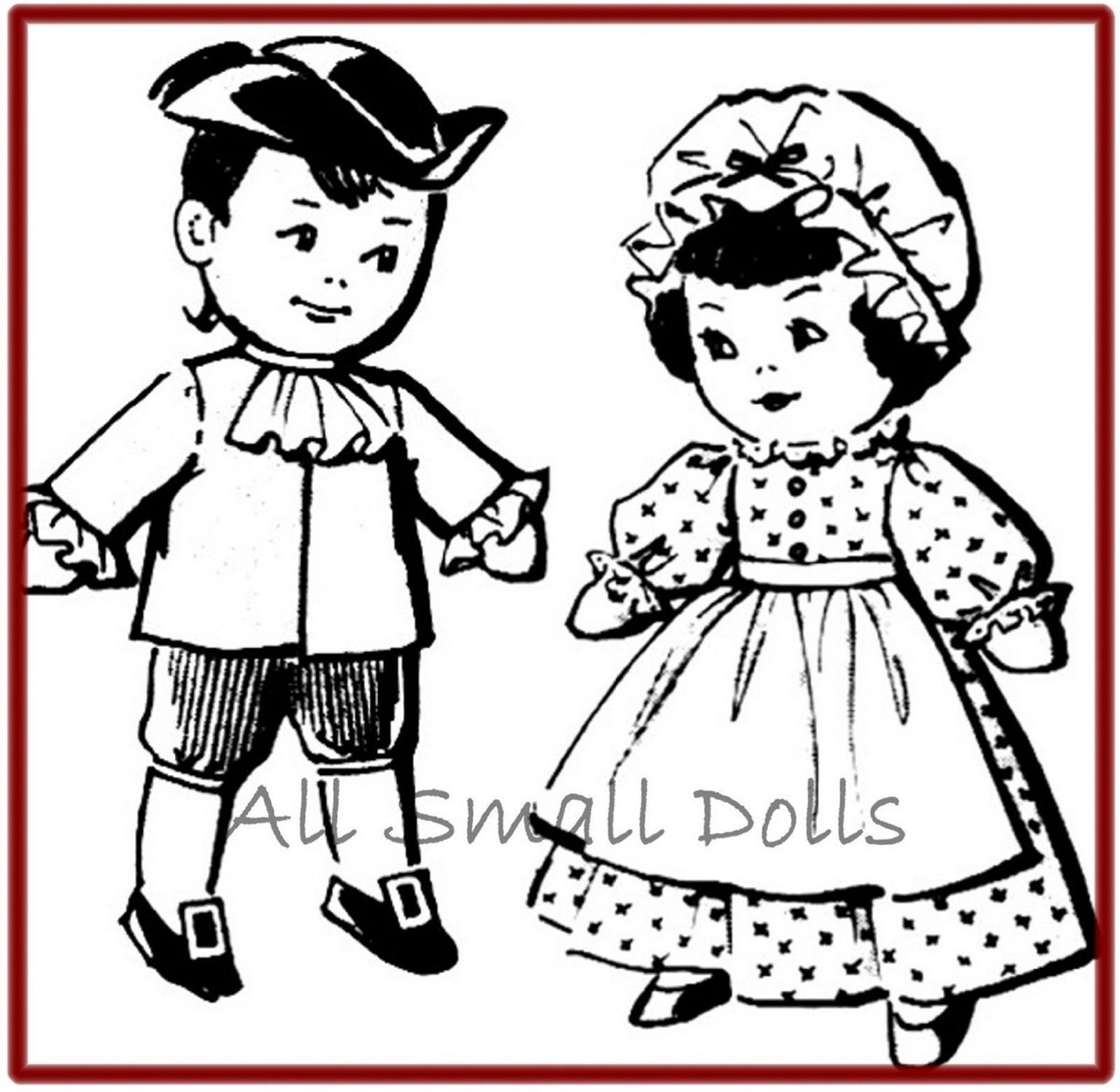 Primary image for Vintage Pattern for Bicentennial  Pilgram Sock Dolls