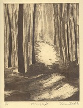 MORNING LIGHT zinc plate etching limited editio... - $34.99