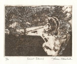 SECRET SHOVEL original photo transfer etching p... - $29.99