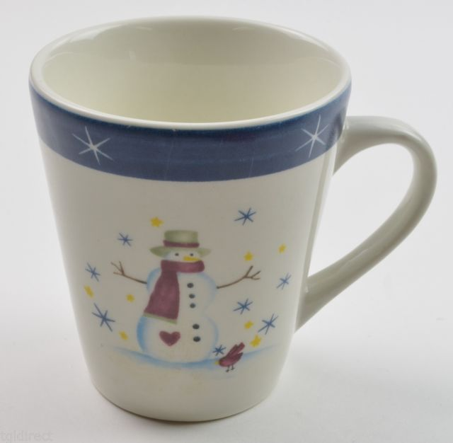 Primary image for Holiday Home Snowman Pattern Mug China Tableware Coffee Cup Christmas Winter