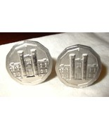 JC4 Royal Canadian Mint Building Ottawa Souvenir Cufflinks - $8.98