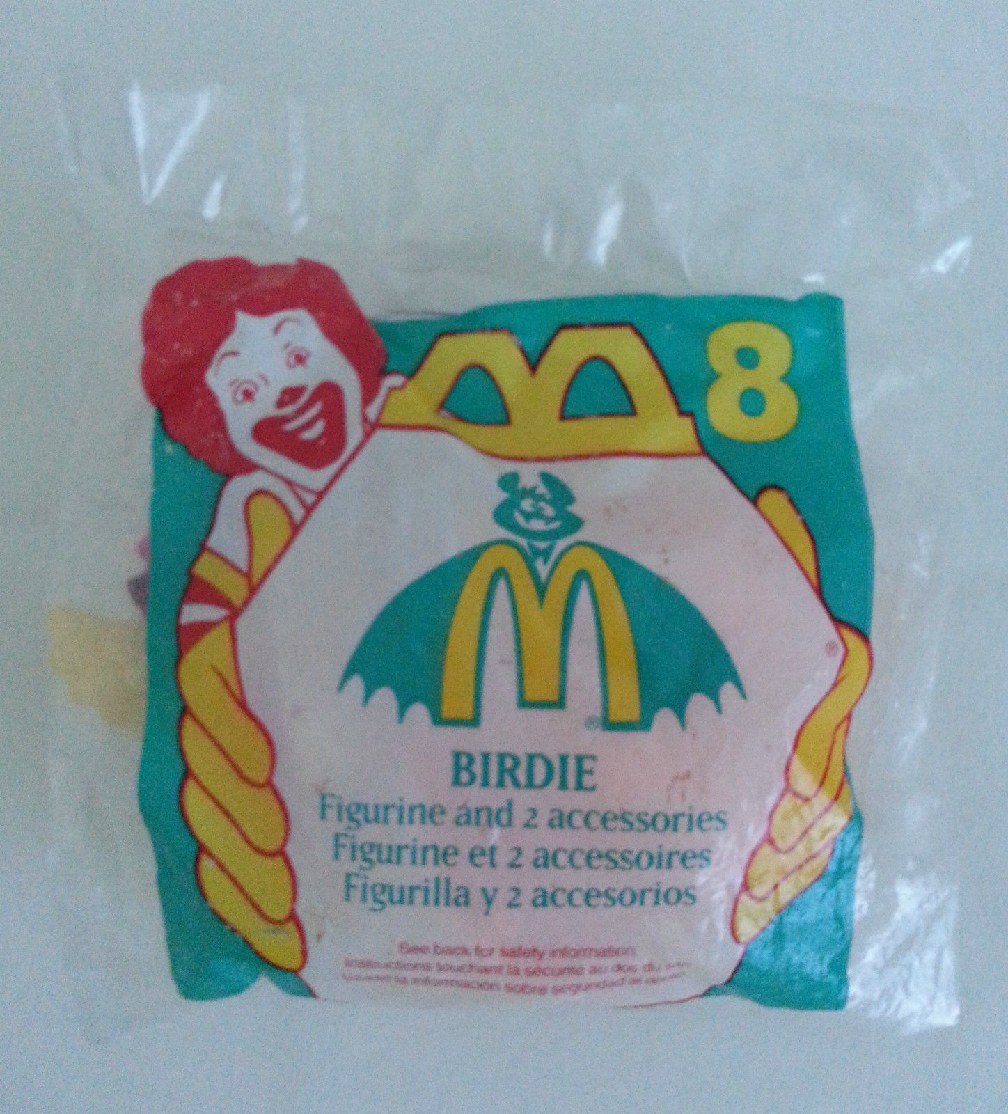 Primary image for McDonalds 1995 Birdie the Early Bird Figurine and 2 Accessories No 8 Meal Toy