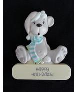 Fridge Magnet 1989 Happy Holi-Daze Samuel J Butcher 1980s Puppy In Blue ... - $6.99