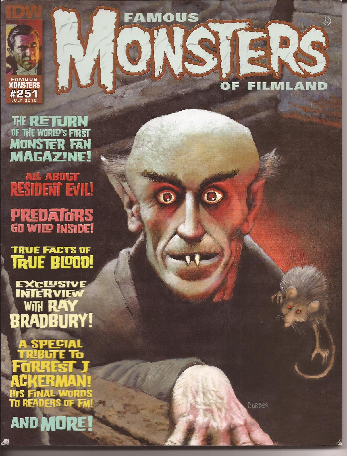 Primary image for Famous Monsters Of Filmland #251 Count Orlock Cover Resident Evil True Blood