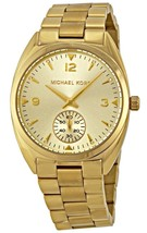 Michael Kors MK3344 Callie Champagne Dial Gold Tone Stainless Steel Watch - $167.49