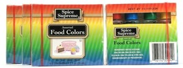 2 Bottles Spice Supreme Food Colors Red Blue Green Yellow 1.2Fl oz BB 11... - $25.99