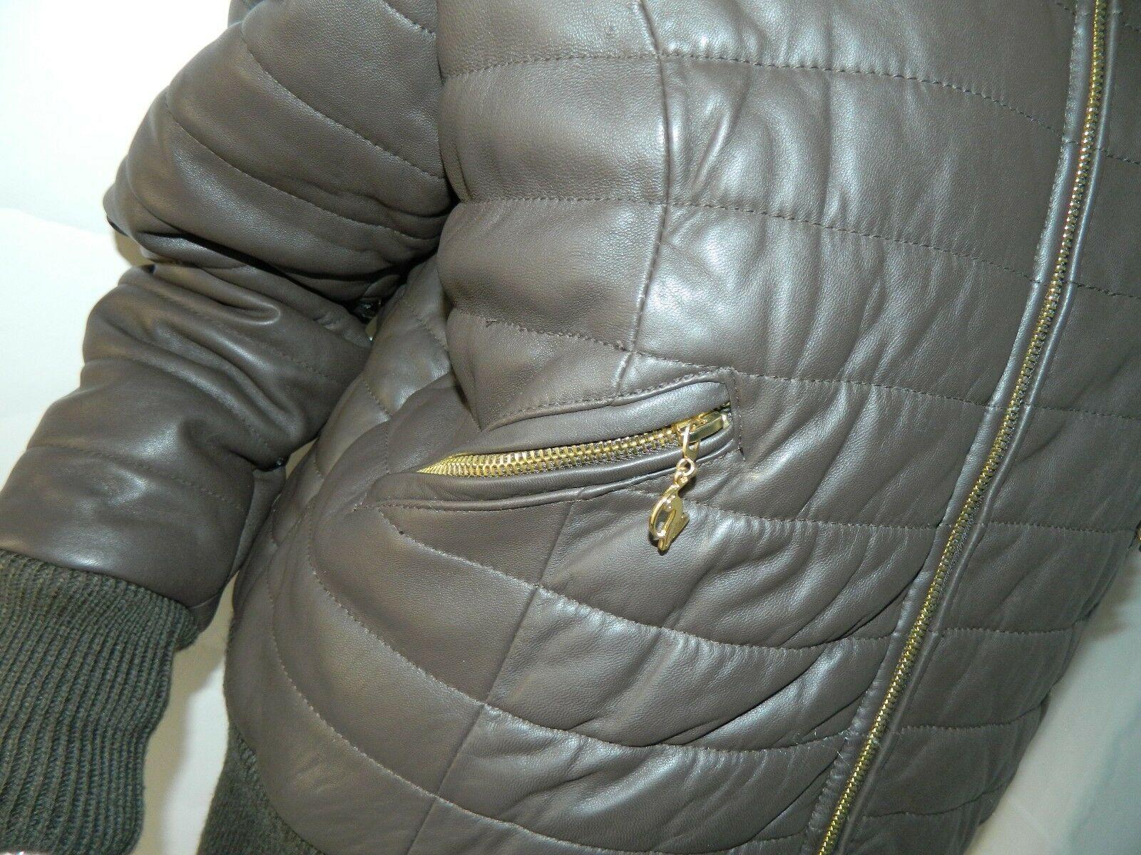 BABY PHAT Jacket Puffer Leather Kimora Lee Simmons Brown Coat XX-Large image 5