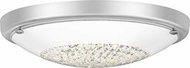 Quoizel QF5131C Zella Crystal LED Flush Mount Ceiling Lighting, 1-Light,... - $142.98