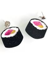 Handmade Japanese Sushi Statement Earrings Drop Acrylic Korean Kawaii Cu... - $3.99