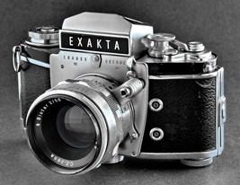 Exakta VX IIa 35mm SLR Camera w Carl Zeiss 58mm f/2 Biotar Lens Nice Col... - $199.00