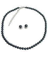 Exotic Tahitian Pearl Necklace Stud Earrings At Low Price - $32.88