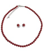 Handmade Swarovski Red Pearls For Both Brides & Bridesmaid Jewelry - $32.88