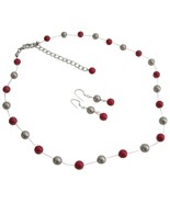 Wedding Jewelry In Latte And Red Color Jewelry For Bridesmaid Gifts - $26.38