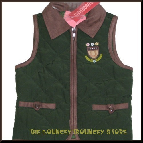 NWT Gymboree Equestrian Club Crest Quilted Vest Size 3