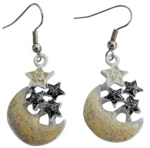 Girls Return Gift Very Stunning Earrings with Yellow Moon Stars - $5.58