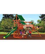 Backyard Cedar Wooden Swing Set Play Outdoor Playground Slide Kids Plays... - $675.99