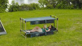 Disc-O-Bed Cam-O-Bunk Cot w 2 Organizers Large Tent Portable Compact Strong - $407.99