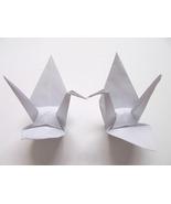 "100 large white origami cranes 5""×5"" - $20.00"