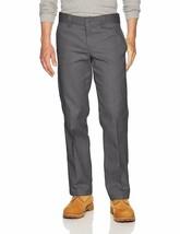 Dickies Men's Flex Work Pant Slim Straight Fit, Charcoal, 42W x 30L Gray 873F - $22.73