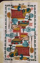 Linen Kitchen Towel Crowleys Needles Tiffany Lamp Duck Cat ETC with Tags... - $11.75