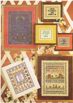 Leisure Arts Leaflet 193 Samplers Charted for Cross Stitch and Needlepoint - $5.99