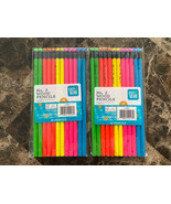 New Pen+Gear Brand Neon #2 Pencils 12 Per Pack - Total 24 pencils 2 Packs - $11.87