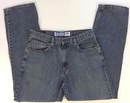Levis Denizen 285 Relaxed Cotton Jeans Vintage Wash Blue Classic Rise 32x31 - $13.81
