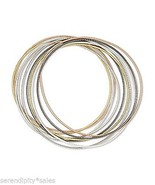 10 Smooth Steel 2mm Coil STRETCH Bracelets 4 Colors: Gold Silver Copper ... - £3.61 GBP