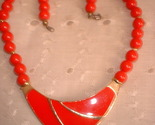 Deco style red and gold necklace thumb155 crop