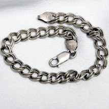 Sterling Silver Double Loop Charm Bracelet - $45.00