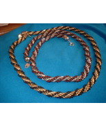 Vintage Jewelry Twisted Beaded Necklace Lot - $16.00