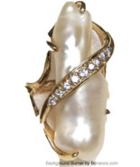 Vintage Lady's 14k  Pearl and Diamond Ring - $895.00